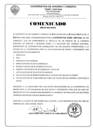 comunicado JD-27-02-2020